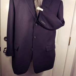 Burberry London Navy Pinstripe Blazer...sz 44 Reg